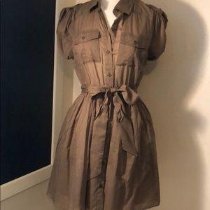 Mods International khaki button up dress